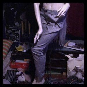 2000's futuristic Silver gold Flash pants